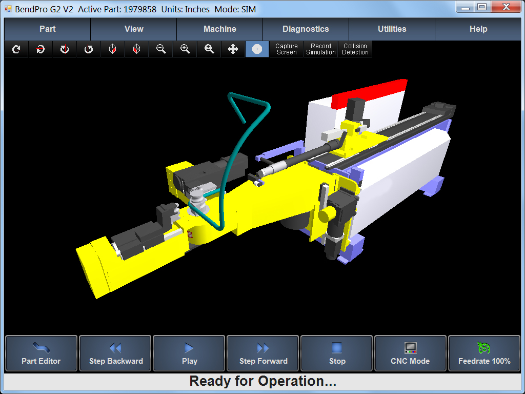 BendPro Control Software SIM 3D Simulation